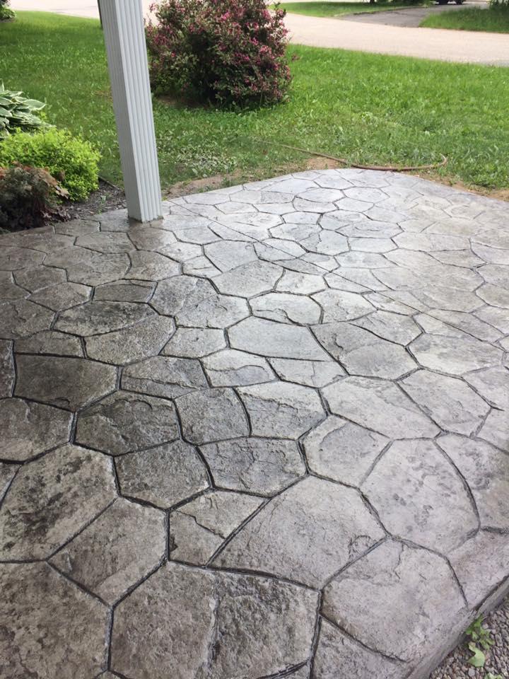 entree de maison motif random stone